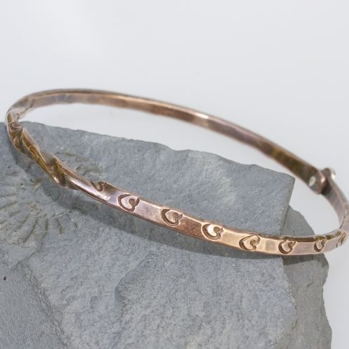 Twisted Heart Copper Bangle