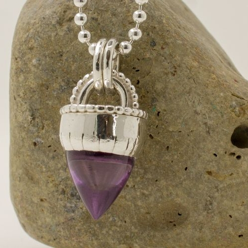 Unusual Amethyst Cone Necklace