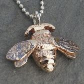 Bumble Bee Necklace In Bronze