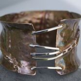 Organic Fold Formed Textured Bangle