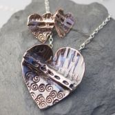 Fold Formed Heart Necklace