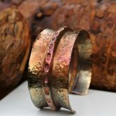 Fold Formed Copper Cuff With Patina