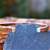 Copper Hammered Cuff With Sterling Silver Ends