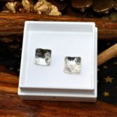 Sterling Silver Textured Square Studs