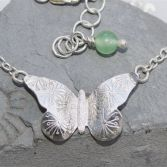 Textured Butterfly Necklace