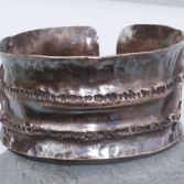 SOLD Organic Fold Formed Copper Cuff