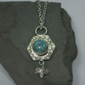 SOLD Turquoise Bee Necklace