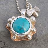 Organic Turquoise & Little Bee Necklace