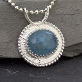 SOLD-Deep Waters Aquamarine Gemstone Necklace