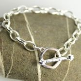Chunky Hexagon T-Bar Bracelet