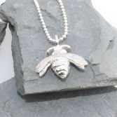 Bumble Bee Necklace Silver