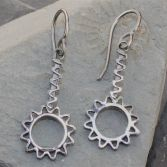 Contemporary Flower Earrings