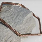 Textured Hexagon Copper Bangle