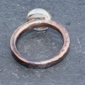 Copper & Solid Silver Pebble Ring