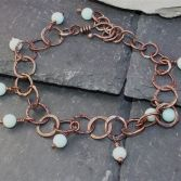 Amazonite Beaded Copper Bracelet SOLD