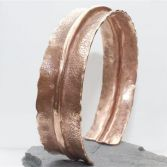 SOLD Copper Folded Formed Cuff / Bangle
