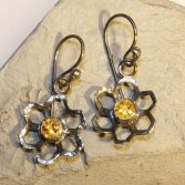 SOLD Citrine Flower Earrings
