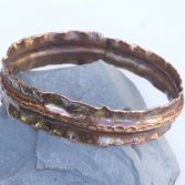 SOLD Textured Copper Bangle Fold Formed