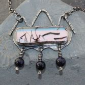 SOLD - Contemporary Dichroic Glass Necklace