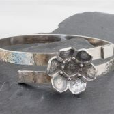 Honeycomb Flower Bangle.