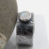 Stormy Moonstone Gemstone Ring