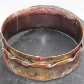 Painted With Fire Copper Spinner Bangle