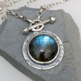 SOLD Large Labradorite Pendant