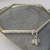 Hexagon Bangle With Bee